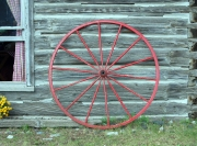 wagon wheel red